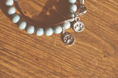 Dog paw bracelets in leather and sky blue