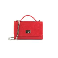 Belle Clutch Red by Dicami. Equally chic held as a clutch or worn by its detachable cross body chain this versatile bag can also be used as a wallet. Made in Italy using fine Italian leather. Italian Leather, Cross Body, Italy, Handbags, Chain, Red, Fashion, Moda, Italia