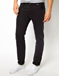 ASOS Slim Jean In Washed Black