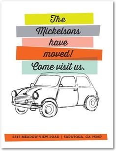 Clear Carload - Moving Announcement Postcards - Chewing the Cud - Autumn Orange - Orange | www.TinyPrints.com