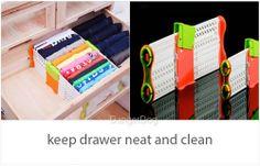Drawer closet divider storage organizer refrigerator kitchen drawer arrangement #DDA
