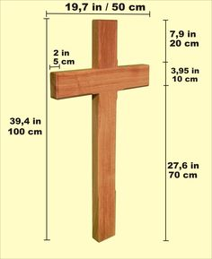 How to obtain the correct proportions when building a - Exterior church crosses for sale ...