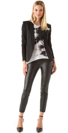 Blank Denim Vegan Faux Leather Leggings
