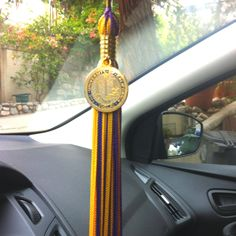 Hanging your high school graduation tassel from your rear view mirror. I did this.