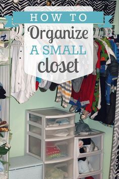 "You will love this ""how to"" on organizing small closets! Just because it's small doesn't mean it can't be fabulous! #ClutterFree"