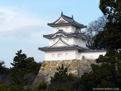 Japanese castles I've visited: #2 Akashi Castle in Hyogo Prefecture - which I've visited a few times. There's no main tower left, only turrets. It's located in a huge park right next to the train station.