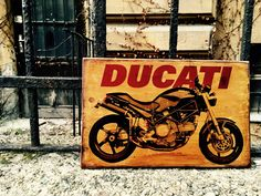Excited to share the latest addition to my #etsy shop: Ducati Monster Motorcycle Art Wooden Picture Home Decor Wall Decor