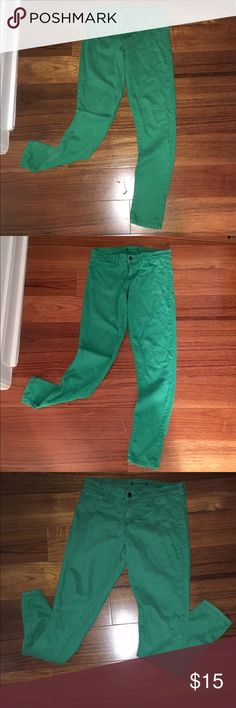 💚Turquoise Green Skinny Jeans 💚 Size 11 - Turquoise Green Skinny Jeans- Super Soft Material- Stretchy-Great Condition! Jeans Skinny