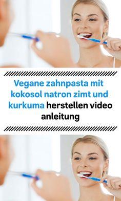 vegane zahnpasta mit kokosol natron zimt und kurkuma herstellen video anleitung Stevia, Videos, Peppermint, Turmeric, Natural Toothpaste, Dental Caries, Baking Soda