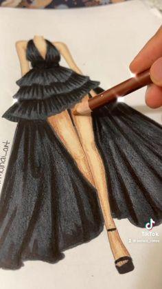 Fashion Design Books, Fashion Design Sketchbook, Fashion Design Portfolio, Fashion Design Drawings, Fashion Sketches, Fashion Illustration Poses, Fashion Illustration Tutorial, Fashion Figure Drawing, Fashion Drawing Dresses