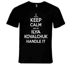 Ilya Kovalchuk Keep Calm Handle It Los Angeles Hockey T Shirt - Top Personalized Gifts T-Shirts Clothing Tees And Mug Funny For Men And Women Alec Martinez, Ilya Kovalchuk, Shirt Outfit, T Shirt, Keep Calm, Crew Neck Sweatshirt, Shirt Style, Hockey, Personalized Gifts
