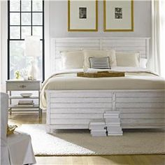 This white bedroom is divine. - Coastal Living Resort (062-A) by Stanley Furniture  l  Design Interiors Tampa, Florida