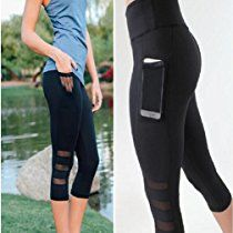 GBSELL Women Skinny Mesh Sexy Leggings Yoga Pants Workout Clothes with Pocket