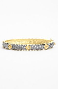 Freida Rothman 'Tribeca' Clover Station Hinged Bangle available at #Nordstrom