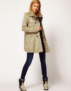 Image 4 of Free People Cheetah Coat in Faux Fur
