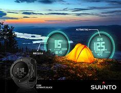 Suunto Core Ultimate Black  Altímetro, Barómetro, Brújula, Temperatura, Alarma de tormenta, Amanecer / puesta del sol, entre otras cosas.