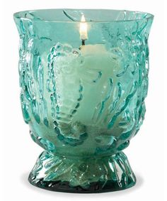 Aqua Glass Starfish Candleholder - Coastal Home Decor - Seasons Gifts and Home Seaside Decor, Coastal Decor, Coastal Living, Cottages By The Sea, Beach Cottages, Shades Of Turquoise, Light Turquoise, Dream Beach Houses, Beach Themes