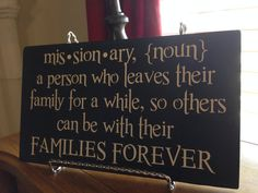 Missionary Definition plaque on Etsy, $10.00