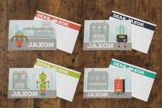 Lunchbox Notes >> Robot Theme -