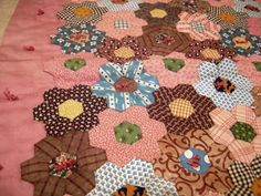 even closer, 1800s doll hexie quilt