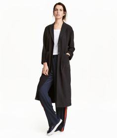 Crêped Coat | Black | Ladies | H&M US