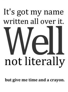 Except at Christmas time ... then my name literally is everywhere!! :)