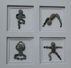 Yoga poses pebble wall art / Yoga gifts / Gift for bestfriend