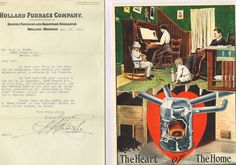 The Heart of the Home, Catalog for the Holland Furnace, with Letter Signed by the Manager of the Holland Furnace Company | Holland Furnace Company