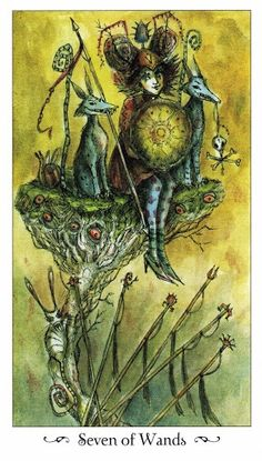 Tiết lộ Lá Seven of Wands - Paulina Tarot bài tarot Xem thêm tại http://tarot.vn/la-seven-of-wands-paulina-tarot/