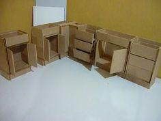 Como hacer una cocina completa para muñecas, puertas y cajones