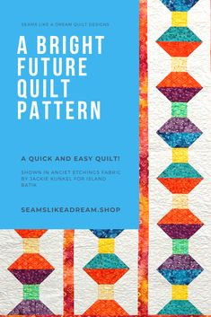Modern Quilt Patterns, Half Square Triangles, Quilt Sizes, Bright Future, Pattern Names, Easy Quilts, Paper Lanterns, Quilting Designs, Crib