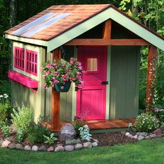Getting a playhouse for the girls for Xmas - going have to paint it something like this #adorable!