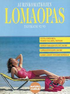 #Aurinkomatkat lomaopas talvikausi 1992-93 #retro Puerto Vallarta, Costa Rica, Beach Mat, Vietnam, Outdoor Blanket, Retro, 1980s, Movies, Movie Posters