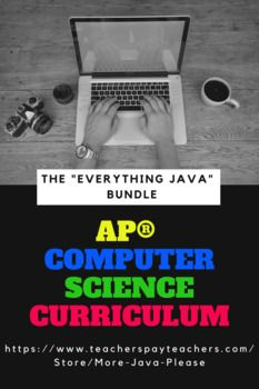 This bundle contains everything labeled AP® Computer Science A in my store - if you purchase this, you are receiving a discount! Disclaimer: It does not contain Powerpoints to present material. Computer Science, Science And Technology, Science Curriculum, Teacher Newsletter, Teacher Pay Teachers, Java, Everything, Teaching, Programming