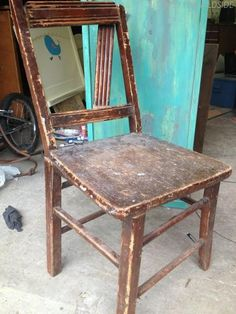 TUTORIAL: how to Repurpose an old chair: Old Chair Turned Shelf