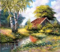 Reint Withaar - Countryside Paintings by Reint Withaar | Art and Design