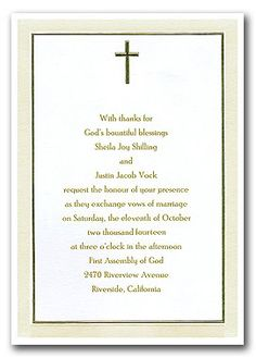 christian wedding invitation wording - Google Search