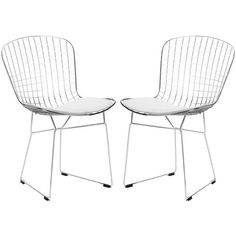 251 First Nicollet White Side Chair, Set Of Two Wire Dining Chairs, Dining Chair Set, Side Chairs, Find Furniture, Dining Furniture, Furniture Sets, Mirrored Furniture, Metal Furniture, Furniture Stores