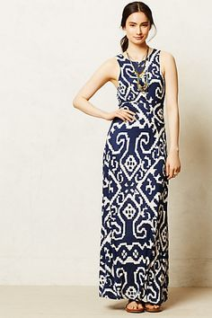 Anthropologie Scrollwork Navy Maxi Dress (so cute!! bought it on 6/2!!)