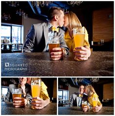 Very fun beer themed engagement photo session.