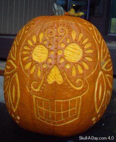 Dia de los muertos pumpkin <3