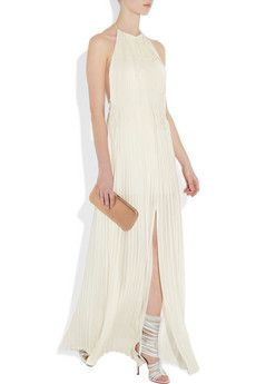 The Row Fontaine backless silk maxi dress