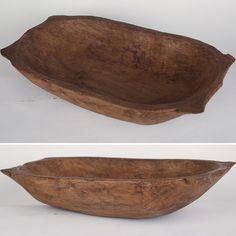Primitive Dough Bowls   Vintage Bread Bowls   Wooden Dough Bowls