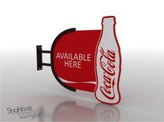 Coca Cola 3D Model Shop with Complete Branding