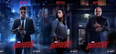Marvel has released five character posters for the Netflix series Daredevil.