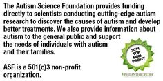 Autism Science Foundation web site