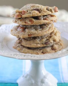 Butterscotch Chocolate Chunk Pudding Cookies, perfect texture, no fail recipe! #cookies - Picky Palate