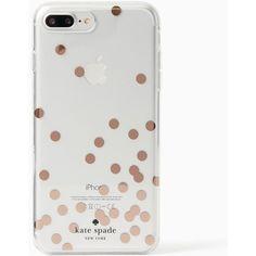 Kate Spade Confetti Rose Gold Foil Iphone 7 Plus Case, Clear