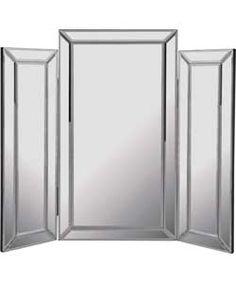 Bevelled Triple Dressing Table Mirror.