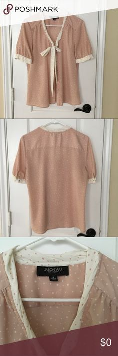 Polka Dot Bow Blouse Bow blouse polka dot pattern. In good condition. (No copyright infringement intended with the above listed photos.) Jason Wu Tops
